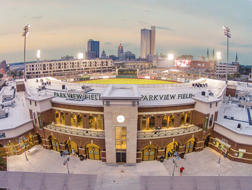 Parkview Field in Fort Wayne is the home of the TinCaps.